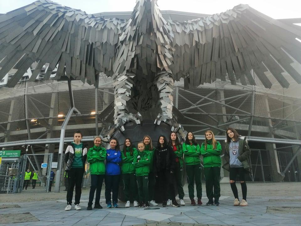 U16 leány – Női BL mérkőzésen szurkoltunk a Fradinak a Groupama Arénában